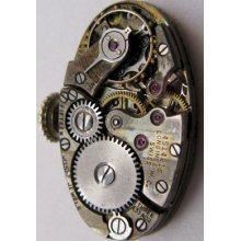 Used Lady Longines 7.45 15 Jewels Oval Watch Movement Complete