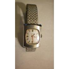 Vintage Bulova Swiss Made Automatic Ladies Wristwatch