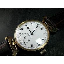 Vintage Tempus Watch Co Cal.105 17 Jewels Swiss Made Porcelain Dial Wristwatch