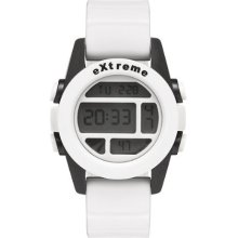 Addison Ross Unisex Quartz Watch With Lcd Dial Digital Display And White Silicone Strap Wa0500