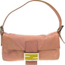 868c326248 Authentic Fendi Logos Shoulder Bag Leather Pink Vintage Made In Italy  2b06242