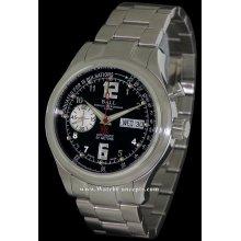Ball Trainmaster wrist watches: Trainmaster Pulsemeter Black cm1038d-s