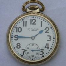 Ball Watch Co Garland 17 Jewels Sz 12 Pocket Watch Gf Unadjusted
