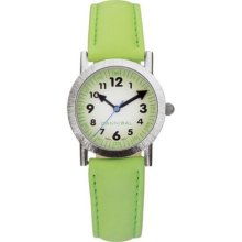 Cannibal Unisex Quartz Watch With Green Dial Analogue Display And Green Plastic Or Pu Strap Ck037-11
