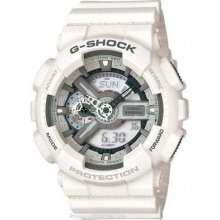 Casio Gshock Xl Case Ana-digi White Watch Ga110c-7a Free Shipp In Usa