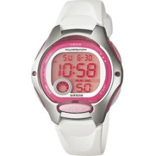 Casio Lw200-7av Ladies Digital Sports Womens Pink White Watch
