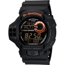Casio Men's Gdf100-1b G-shock Twin Sensor Black Resin Digital Watch