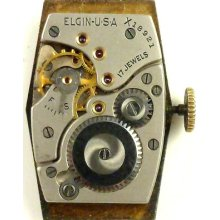 Elgin Complete Running Wristwatch Movement - Spare Parts / Repair