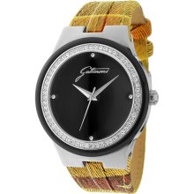 Gattinoni Italy Women's Planetarium Designed Leather Zircon Watch