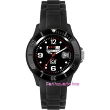 Genuine Ice-watch F Me I'm Famous Classic-black Silicon Unisex Or Big Big