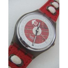 Gm131 Swatch 95 Athletics Authentic Swiss Watch In Box