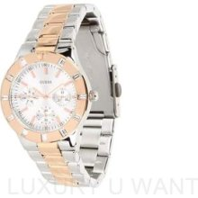 Guess U12649l1 High Shine Two-tone Stainless Steel Feminine Ladies Watch