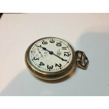 Hamilton Ball Official Standard Cleveland 999b Railroad Pocket Watch Gold Filled