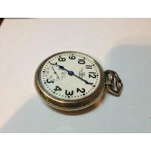 Hamilton Ball Official Standard Cleveland 999b Railroad Pocket Watch Gold Filled