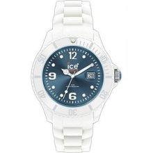 Ice Unisex Big Sili White/jeans Dial Watch Siwjbs10