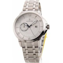 Invicta Vintage Mens Large Stainless Steel Day Date Swiss Watch 1 ...