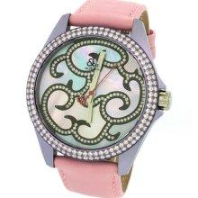 Jacob & Co. Swiss 40mm Purple Case Diamond Bezel Dial Pink Band Watch 2.925ct