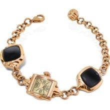 Kenzo Designer Women's Watches, Kichou - Rose Gold Plated Bracelet Watch with Onyx
