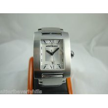 Mens Mont Blanc Stainless Steel Profile Watch