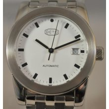 Mens Octo Automatic White Dial Stainless Steel Date Swiss Watch