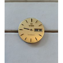 Omega Vintage Mens Constellation Quartz Gold Colored Watch Dial Nice Condition