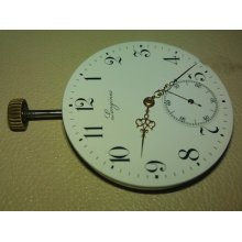 Rare Pocket Watch Movement Longines 17 Jewels Whit Chaton Center Wheel