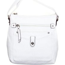 Rosetti White Mini Triple Play Carlene Crossbody Bag
