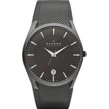 Skagen Aktiv Grey Mesh Round Dial Mens Titanium Watch - SKW6010