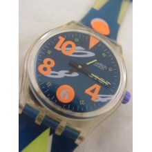 Ssk102 Swatch 1993 Movimento Stop Authentic In Box