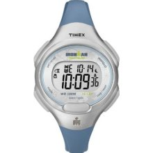 Timex Womens T5k604 Ironman Traditional 10-lap Blue Resin Strap Watch Wristwatch