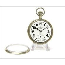 Vintage Ball Official Standard 999b 21j Railroad Pocket Watch 16s / Display Case