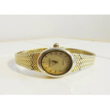 Vintage Constant Ladies Wrist Watch // Gold Quartz Japan Movt
