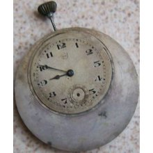 Vintage Rare Pocket Watch Movement & Dial Signed E&c 42 Mm. To Restore