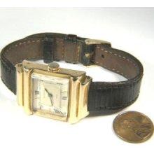 100% Genuine Vintage Art Deco 18k Gold Man's Rolex Watch By Lomazzi C1940s