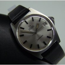 60's Omega Seamaster Auto Silver Dial Date Ss Case,cal:565 Man's