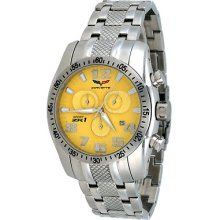 Corvette Cr-288 Men's Sport Zr1 Collection Yellow Dial Swiss Chronograph Watch