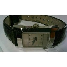 Dunhill Ladies Facet Watch Swiss Made Mechanical 113 15892 Tumv 30m Leather