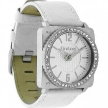 Firetrap Ladies Watch, White Leather Strap, Nw0480