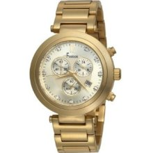 Freelook Men's Ha1136chmg-3a Cortina Matte Gold Swarovski Crystal Accented Chron