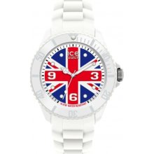 Ice-Watch Unisex Quartz Watch With Multicolour Dial Analogue Display And White Silicone Strap Wo.Uk.B.S.12