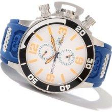 Invicta Mens Corduba Collection White Dial Swiss Blue Polyurethane Strap Watch