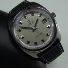 Large 60's Omega Seamaster Silver Dial Date Cal:565 Auto Man's
