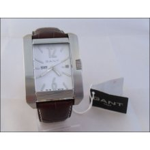Mens Classic Brown Leather Gant Midtown Gents Analogue Xl Chunky Fashion Watch