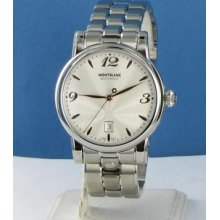 Montblanc 105961 Star Date Automatic Silver Dial Rose Hands/numbers Watch $2820