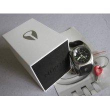 Nixon Wrist Watch The Key Silver / Black | Men's Quartz 200m Steel W/box & Key