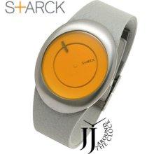 Philippe Starck Egg Gray Leather Unisex Ph6002 Box