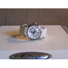 Rare Oakley Holeshot 3 Hand Small Honed White Leather Band W/white Dial