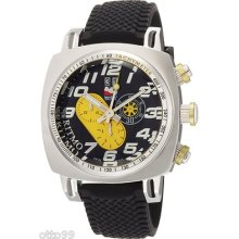 Ritmo Mundo Men's 221 Yellow Indycar Series Quartz Chronograph Stainless Steel