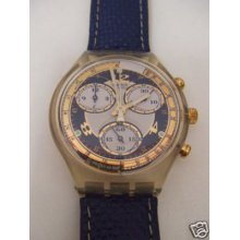 Sck108 Swatch - 1995 Chrono Blue Horizon Hands Glow Art
