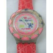 Sdn900 Swatch - 96 Scuba Pink Pleasure Loomi Hands Glow